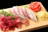 Sashimi Hamachi On A Board