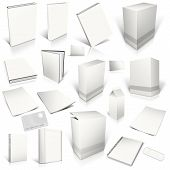 White 3D Blank Cover Collection