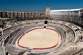 Arles Roman Amphitheater, View Of The Arena