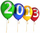New 2013 Year party balloons decoration banner multicolor