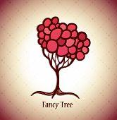 Vector fancy tree background