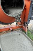 Wheelbarrow full of wet cement