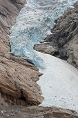 Extreme close-up of Jostedal glacier in  Norway, Scandinavia, Europe