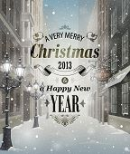 picture of street-art  - Christmas greeting card  - JPG