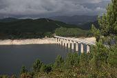 Bridge Across Drought Stricken Reservoir