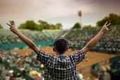 Supporter At Tennis Cup