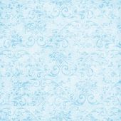Vintage Light Blue Floral Tapestry