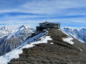 Lookout in the Swiss Alps