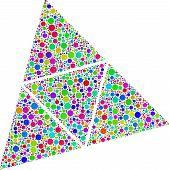 picture of tetrahedron  - Coloured surfaces of a tetrahedron - JPG