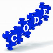 Code Puzzle Showing Codification Or Encoding