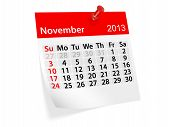 Monthly Calendar For New Year 2013. November
