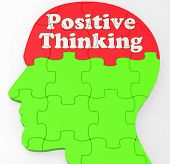 Positive Thinking Mind Shows Optimism Or Belief