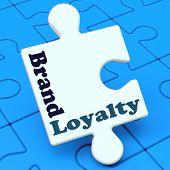 Brand Loyalty Shows Customer Confidence Preferred Brand Name poster