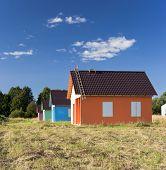 Four Multicoloured Houses