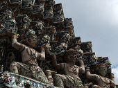 Yaksha At Base Of Central Prang Of Wat Arunratchawararam
