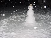 Snowman Night Snow