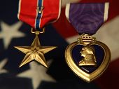 Bronse Star And Purple Heart
