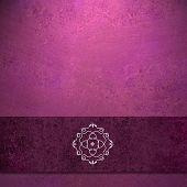 pink background burgundy ribbon and seal design