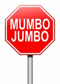 foto of slang  - Illustration depicting a roadsign with a mumbo jumbo concept - JPG