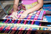 Sasak tribe lady weaving, Sade, Lombok, Indonesia