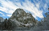 Unapproachable Snow Covered Rock
