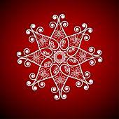 funky snowflake flower shape