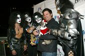 UNIVERSAL CITY - DEC. 4: Lorenzo Lamas & Kiss My Ass band arrive at publicist Mike Arnoldi's birthda