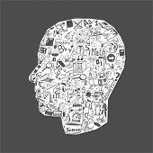 Back to school - doodle set, concept background