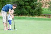 Family Golfing