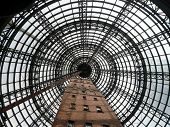 interior view of Shot Tower in Melbourne from below
