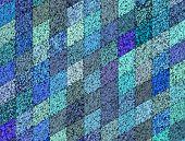 3D Mosaic Abstract Blue Backdrop