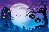 Halloween theme image 9 - eps10 vector illustration.