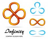 Set of design symbols of infinity