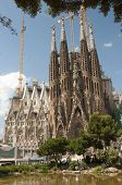 Sagrada Familia (holy Family) Church In Barcelona
