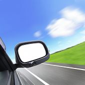 Car And Rear View Mirror