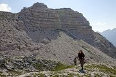 foto of incredible  - Hiking at incredible and extreme Albanian Alps - JPG