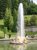 picture of munich residence  - An image of the fountain at castle linderhof in bavaria germany - JPG