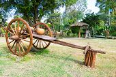 Ancient Timber Bullock Cart