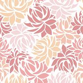 Seamless pattern with dahlia flowers. Vector illustration.