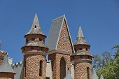 Part of turret and steeples in Chateau de Nates, South Africa