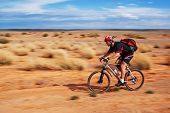 Adventure Mountain Bike  Marathon In Desert