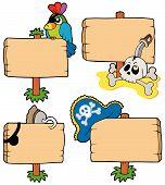 Coleção de sinais madeira pirata