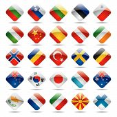 picture of holland flag  - The vector image set world flag icons 2 - JPG