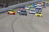 BROOKLYN, MI - AUG 18, 2013:  The NASCAR Sprint Cup teams take to the track for the Pure Michigan 40