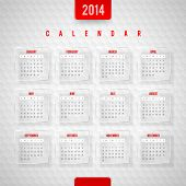 Vector design template -  Calendar of 2014