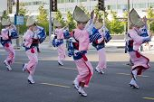 Unidentified Dancers Participate At The 73Th Annual Nisei Week Grand Parade