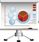 Business graph board