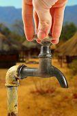 Water Tap In Africa Village