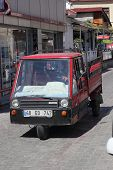 Motoring in the small streets of  fethiye