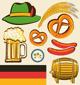 Oktoberfest Festival Objects For Design Isolated For Design